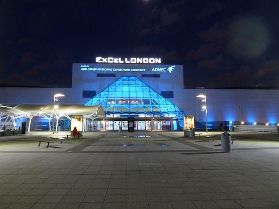 The ExCel London exhibition hall, which houses the boat show on the east side of the city.