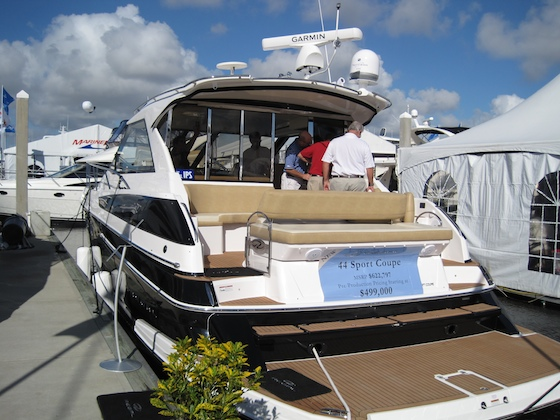 The new Regal 44 Sport Coupe, offered at an attractive show price.