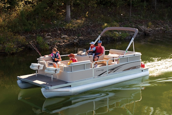 Sales of pontoon boats are climbing as families seek activities they can enjoy together.