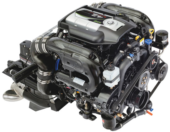 Equipped with a catalyst in the upper portion of each exhaust manifold, the new MerCruiser 4.3 MPI ECT meets all EPA and CARB emissions regulations.