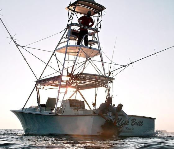 The 34-foot Miss Britt, a custom charter fishing boat