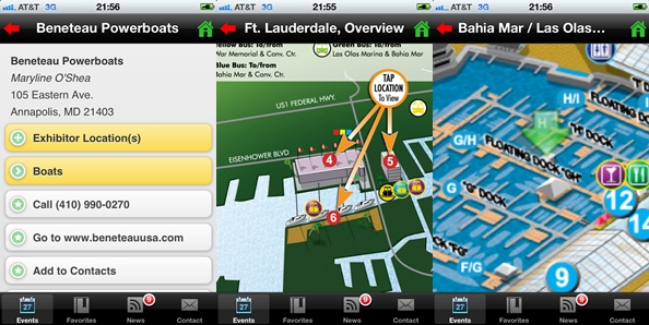 The MyBoatShow app for smartphones can give you fingertip access to all the FLIBS exhibitors and locations.