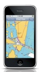 Navigation on your iPhone; Navionics version 2.1 has come out since 2.0 was submitted for judging.