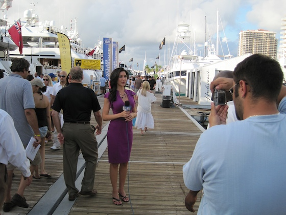 Live from the docks, an NBC 6 Miami's reporter captures the color.