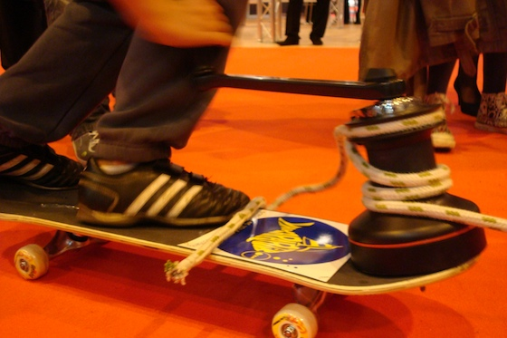 Introducing the winch-powered skateboard