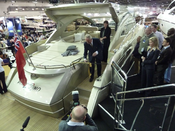 Robert Braithwaite officially launches the Portofino 48.