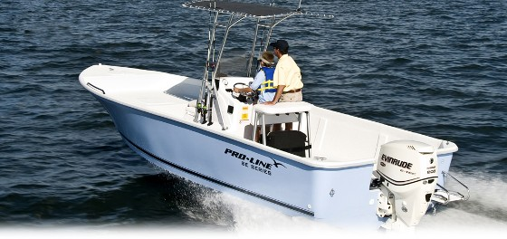The Pro-Line SE series, including this 22 center console, introduce boat buyers to reasonable pricing.