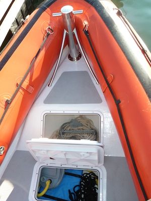 The Protector hull has several convenient storage compartments.