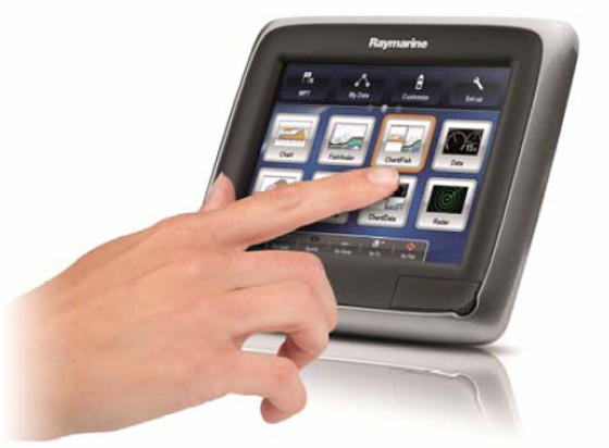 The new Raymarine a Series a65 and a67 are 5.7-inch touch-screen MFDs.