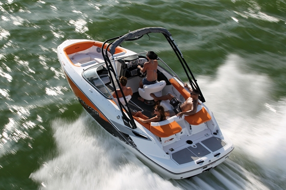 The Sea-Doo 210 is one of the 'Smokin' Hot Twins' shown in the inaugural issue of Sportboat.