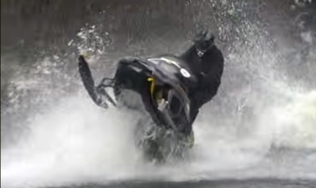 Manic Monday Video: Insane Snowmobiles Flying Over Jet Boats