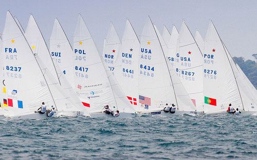 With five teams competing, the Star class was by far the deepest US fleet in Perth for the second Trials regatta. Photo: USSailing/