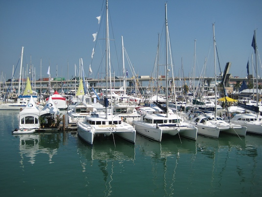 The Catamaran Company and a fleet of mostly Lagoon models formed one of the biggest Strictly Sail Show exhibits.