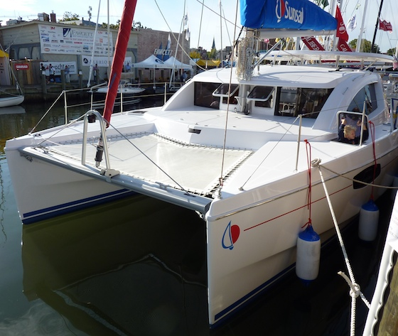 The Sunsail 384 is a new Morelli & Melvin cat built in South Africa for sale into charter yacht management in bareboat fleets.
