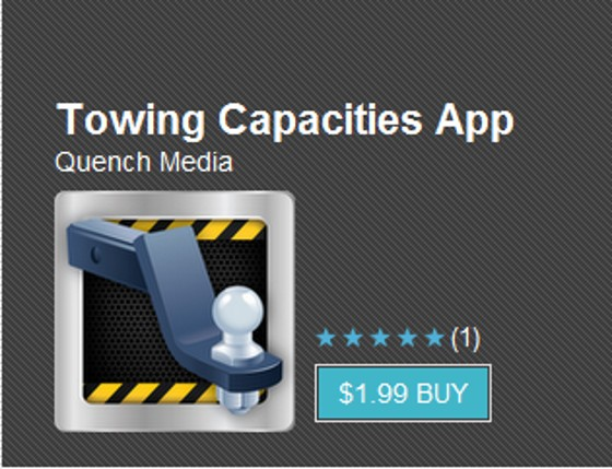 The new Towing Capacities App from OnlineTowingGuide.com, for Android.
