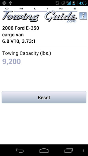 Tell the app your truck mako, model, year, and other info, and its towing capacity appears on-screen.