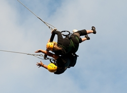 The 80-foot Bosun Swing.