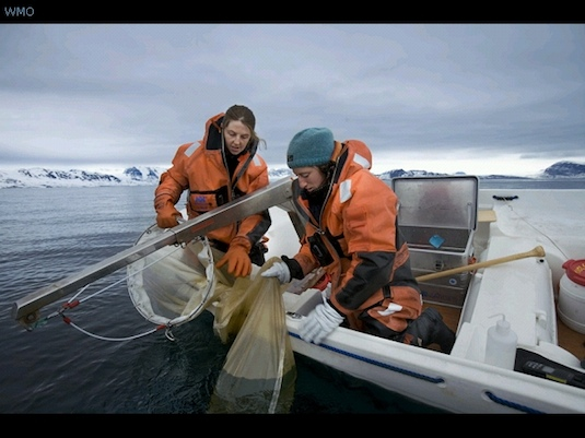 Two scientists at work on one of 160 International Polar Year projects conducted in 2007-2008. Photo by Christian Maurel.