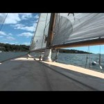Video: Conanicut Island from the Cockpit of a Wooden Boat