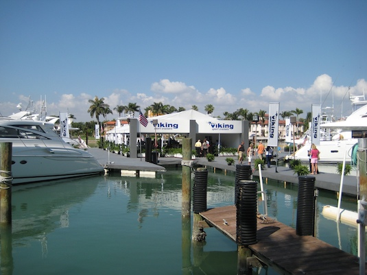 The Viking Sport Cruiser booth at the Yacht & Brokerage Show