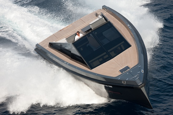 The Wallypower 55 has aggressive styling and spacious decks and cockpit.