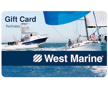 The contest winner receives a $250 gift card to West Marine.