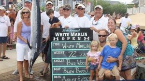 This 72 pound fish was worth a total of about 1.4 million dollars. Photo courtesy of the White Marlin Open.